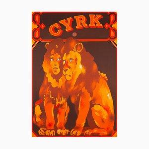 Poster Cyrk Löwen Liebhaber Zirkus Poster von Waldemar Swierzy, 1975