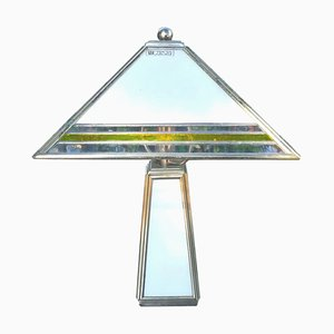 Cathedral Glass Table Lamp by Albano Poli for Poliarte, 1970s