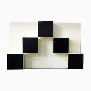 Italienisches Mid-Century Modern Modulares Wandregal von Roberto Monsani für Acerbis, 1980er