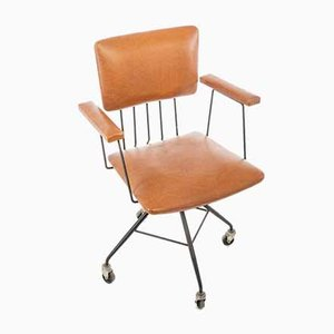 Vintage Modern Swivel Desk Chair, 1950s