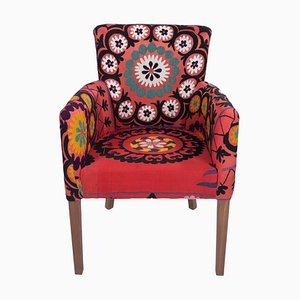 Suzani Ethnic Turkish Bergere Armchair