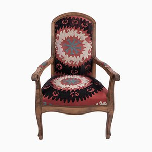 Suzani Embroidered Bergere Chair