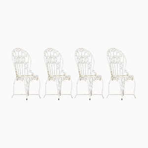 Wrought Iron Garden Chairs, 1960s, Set of 4