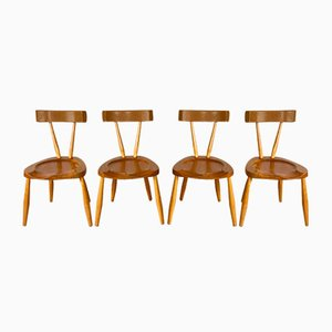 Mid-Century Brutalist Dining Chairs, Set of 4