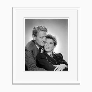 Spencer Tracy and Katharine Hepburn Archival Pigment Print Framed in White by Everett Collection
