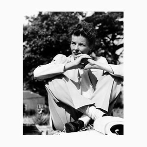 Katharine Hepburn in the African Queen Archival Pigment Print Framed in Black by Everett Collection