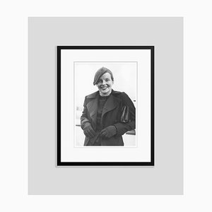 Katharine Hepburn Aboard the S.S. Paris Archival Pigment Print Framed in Black by Everett Collection