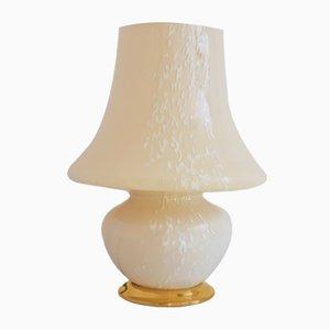 Lampe Mushroom Jaune en Verre de Murano, 1970s