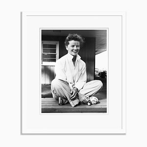 Cheerful Katharine Archival Pigment Print Framed in White by Everett Collection