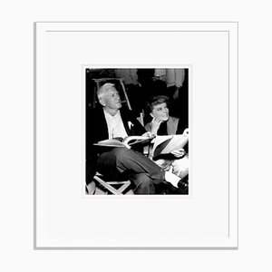 Spencer Tracy & Katharine Hepburn Script Reading Archival Pigment Print Framed in White by Everett Collection