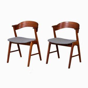 Mid-Century Danish Teak Dining Chairs by Kai Kristiansen for Korup Stolefabrik, 1960s, Set of 2