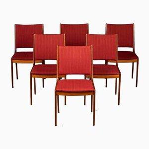 Chaises de Salon Mid-Century en Teck par Johannes Andersen pour Uldum Møbelfabrik, Danemark, Set de 6