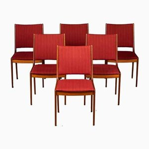 Mid-Century Danish Teak Dining Chairs by Johannes Andersen for Uldum Møbelfabrik, Set of 6