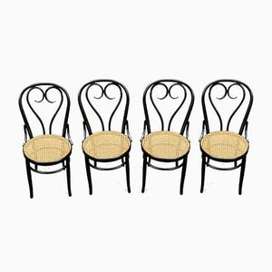 Antique Heart Dining Chairs by Michael Thonet for Gebrüder Thonet Vienna GmbH, Set of 4