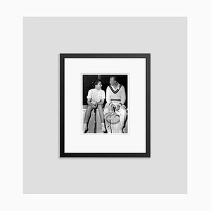 Katharine Hepburn & Don Budge in Tennis Kit Archival Pigment Print Framed in Black by Everett Collection