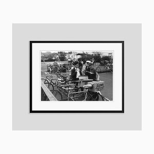 Bikers Silver Fibre Gelatin Print Framed in Black by Slim Aarons