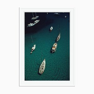 Blue Seas Oversize C Print Framed in White by Slim Aarons