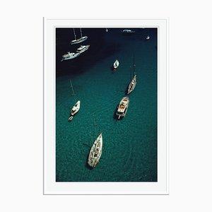 Blue Seas Oversize C Print Framed in White by Slim Aarons