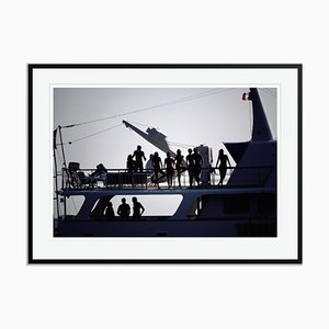 Boat Trippers Oversize C Print Framed in Black by Slim Aarons