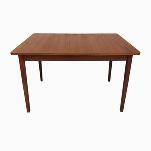 Mesa de comedor danesa vintage extensible, años 60