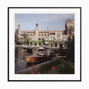 Boats Before the Excelsior Oversize C Print Framed in Black by Slim Aarons