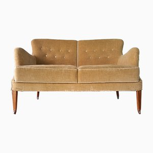 Vintage Danish Velour Sofa, 1930s