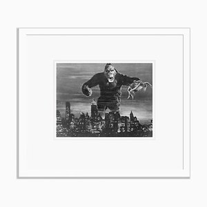 King Kong Archival Pigment Print Framed in White