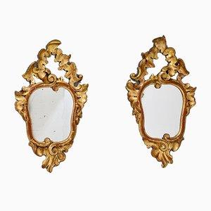 Specchi dorati, Italia, anni '30, set di 2