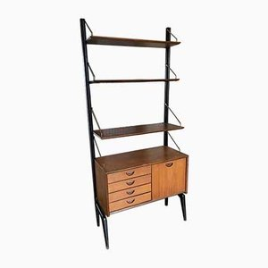 Scandinavian Style Teak Freestanding Shelving Unit by Louis van Teeffelen for WéBé, 1950s