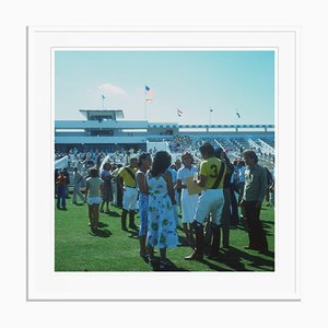 Boca Raton Polo Set Oversize C Print Framed in White by Slim Aarons