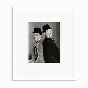 Laurel and Hardy in Sons of the Desert Archival Pigment Print Framed in White by Bettmann