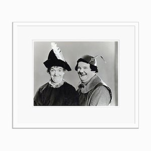 Laurel and Hardy in Babes in Toyland Archival Pigment Print Framed in White by Bettmann
