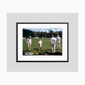 Bowling Green Oversize C Print Framed in Black by Slim Aarons