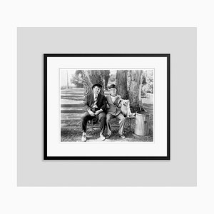 Laurel and Hardy in Early to Bed Archival Pigment Print Framed in Black by Bettmann