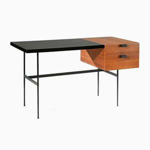 Mid-Century Mahogany Model CM141 Desk by Pierre Paulin for Thonet, 1954
