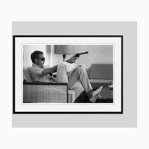 Steve Mcqueen Takes Aim Framed in Black by John Dominis
