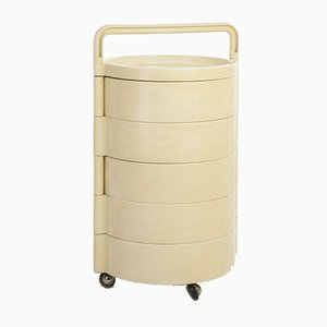 Vintage 4591 Storage Cart by Franco Annoni for Kartell, 1970s