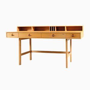 Vintage Danish Flip Top Partners Desk by Peter Løvig Nielsen for Løvig, 1960s