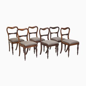 Rosewood Dining Chairs, 1850, Set of 6