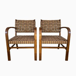 Beech Breeze and Rope Chairs, 1950s, Set of 2