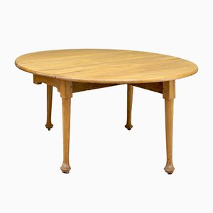 Antique Walnut Drop Leaf Dining Table, 1900