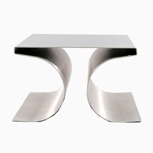 Vintage Brutalist X-Stool by Michel Boyer for Uginox, 1970s