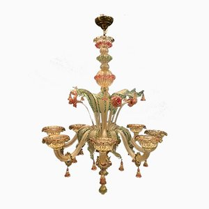 Large Venetian Murano Glass Chandelier, 1960s