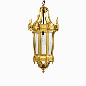 Lanterna grande esagonale dorata, 1900