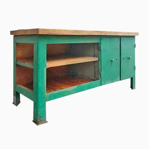 Industrial Green Workbench, 1960s