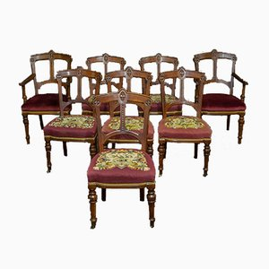 Arts and Crafts Mahogany Dining Chairs, Set of 8