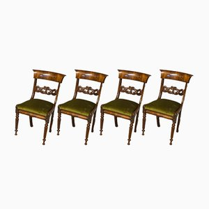 William IV Mahogany Dining Chairs, Set of 4