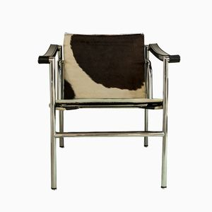 LC1 Chrome Chair by Le Corbusier for Cassina