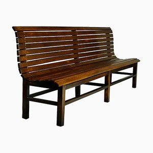 Long Beech Train Station Bench, 1940s