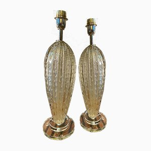 Vintage Table Lamps by Stefano Toso, 1980s, Set of 2